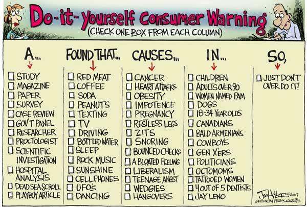"Watch Out for -- EVERYTHING! A ""Do-It-Yourself Consumer Warning"""
